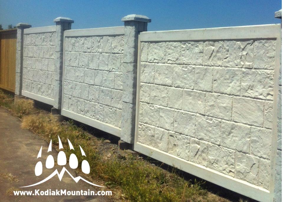 Concrete Fence Kodiak Mountain Stone
